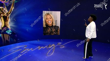 Leslie Jones welcomes Laverne Cox to help announce the 72 Emmy Awards Nominations, during the live streaming event on @ 8:30 AM PDT on Emmys.com