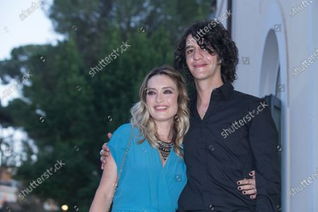 Stock Photo of Carolina Crescentini and Francesco Motta