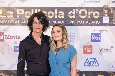 Stock Picture of Carolina Crescentini and Francesco Motta