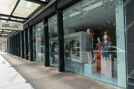 Stock Photo of View of Diane von Furstenberg flagship store on 14th street, Manhattan. All but one store (pictured here) are closed and company shifts to become digital brand and focusing on China market. Majority of company staff were laid off.