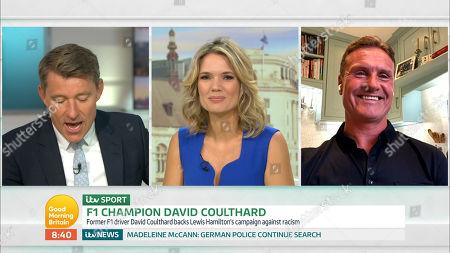 Stock Image of Ben Shephard, Charlotte Hawkins and David Coulthard