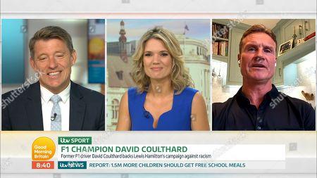 Ben Shephard, Charlotte Hawkins and David Coulthard