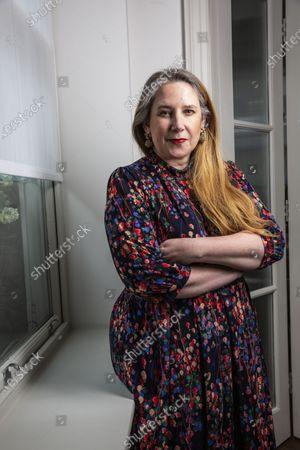 Editorial image of Viv Groskop photoshoot, Maddox Street, Mayfair, London, UK - 12 Feb 2020