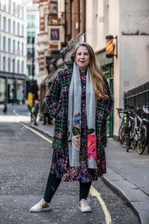 Editorial picture of Viv Groskop photoshoot, Maddox Street, Mayfair, London, UK - 12 Feb 2020