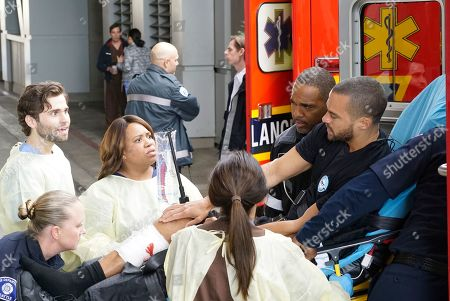 Jake Borelli as Dr. Levi Schmitt, Chandra Wilson as Dr. Miranda Bailey, Jason Winston George as Ben Warren, Jesse Williams as Dr. Jackson Avery