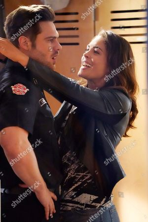 Stock Image of Grey Damon as Jack Gibson and Kelly Thiebaud as Eva Vasquez