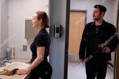 Stock Image of Danielle Savre as Maya Bishop and Grey Damon as Jack Gibson
