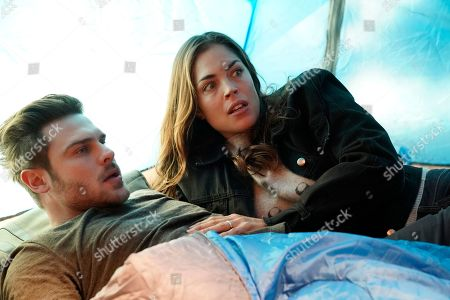 Grey Damon as Jack Gibson and Kelly Thiebaud as Eva Vasquez