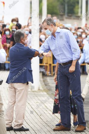 King Felipe VI of Spain, Queen Letizia of Spain, MIguel Angel Revilla visit National Livestock Market on July 29, 2020 in Torrelavega, Spain This trip is part of a Royal tour that will take King Felipe and Queen Letizia through several Spanish Autonomous Communities with the objective of supporting economic, social and cultural activity after the Coronavirus outbreak.