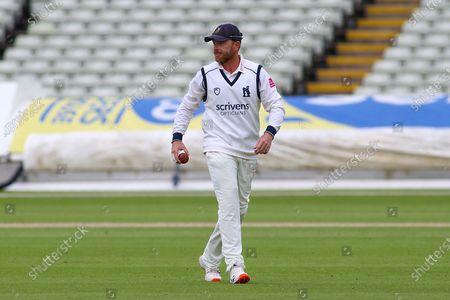 Ian Bell of Warwickshire fielding during the Friendly match between Warwickshire County Cricket Club and Worcestershire County Cricket Club at Edgbaston, Birmingham