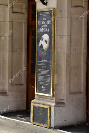 The Phantom of the Opera sign on Her Majesty's Theatre in Haymarket. The Phantom of the Opera is to permanently close in the West End having run 34 years, a blow to the UK theatre industry. Andrew Lloyd Webber's long running musical, which opened at Her Majesty's Theatre in 1986, will no longer run in London due to the impact of coronavirus pandemic.