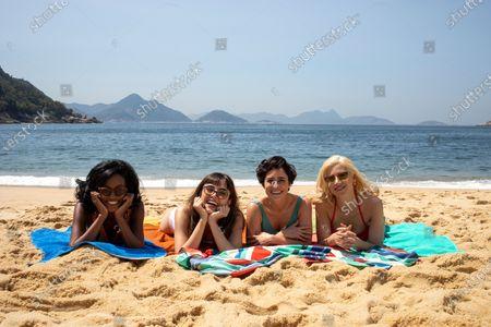 Pathy Dejesus as Adelia Araujo, Maria Casadevall as Malu (Maria Luíza Carone), Fernanda Vasconcellos as Lígia Soares and Mel Lisboa as Thereza Soares