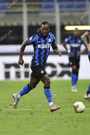 """Victor Moses (Inter) during the Italian """"Serie A"""" match between Inter 2-0 Napoli at Giuseppe Meazza Stadium in Milano, Italy."""