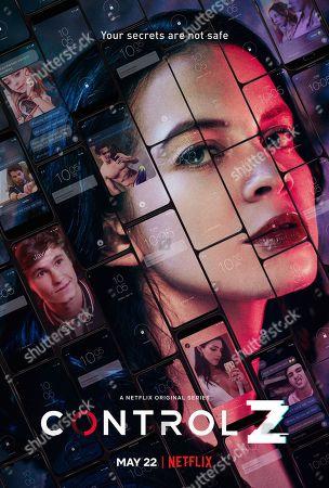 Control Z (2020) Poster Art. Michael Ronda as Javier and Ana Valeria Becerril as Sofía