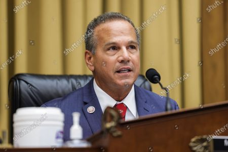 Stock Picture of Commercial and Administrative Law House Subcommittee Chairman David N. Cicilline speaks during a House Judiciary Subcommittee on Antitrust, Commercial and Administrative Law on 'Online Platforms and Market Power' in the Rayburn House office Building on Capitol Hill in Washington, DC, USA, on 29 July 2020.