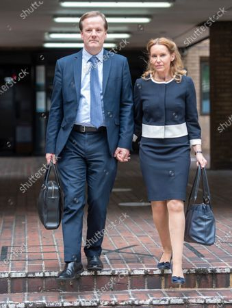 Former Conservative MP Charlie Elphicke, with MP for Dover Natalie Elphicke, at Southwark Crown Court in London where he is on trial accused of three counts of sexually assaulting two women.