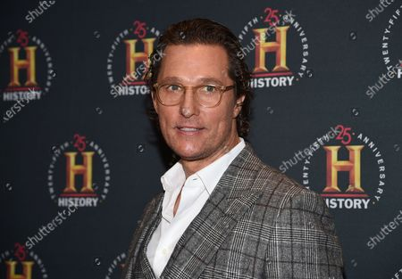 """Actor Matthew McConaughey attends A+E Network's """"HISTORYTalks: Leadership and Legacy"""", in New York. The Oscar winner, known for such films as """"Dallas Buyers Club"""" and """"Magic Mike,"""" didn't want to write an ordinary celebrity book. """"This is not a traditional memoir, or an advice book, but rather a playbook based on adventures in my life,"""" McConaughey said in a statement about """"Greenlights,"""" which comes out Oct. 20"""