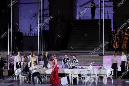 Editorial image of Jedermann dress rehearsal for the Salzburg Festival, Austria - 29 Jul 2020