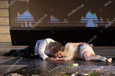 Editorial picture of Jedermann dress rehearsal for the Salzburg Festival, Austria - 29 Jul 2020