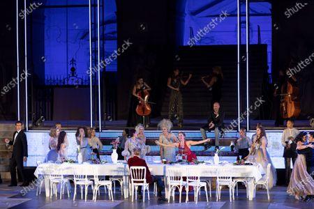 Editorial photo of Jedermann dress rehearsal for the Salzburg Festival, Austria - 29 Jul 2020