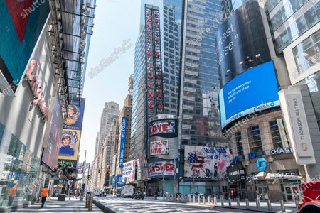 Editorial picture of Mr. Brainwash art on billboards at Times Square, New York, United States - 29 Jul 2020