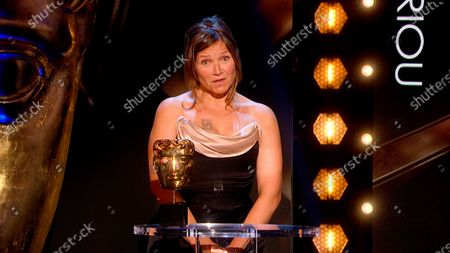 Jessica Hynes presents the Male Performance in a Comedy award