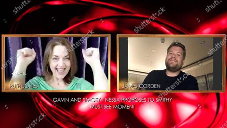 Ruth Jones and James Corden Ð Virgin Media Must See Moment Ð 'Gavin and Stacey, Nessa Proposes to Smithy'