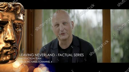 Dan Reed accepts the Factual Series award for Leaving Neverland