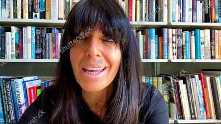 Claudia Winkleman accepts the Entertainment Programme award for Strictly Come Dancing