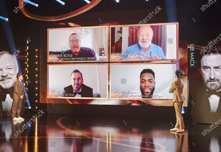 Frankie Boyle, Graham Norton, Lee Mack & Mo Gilligan, nominees for the Entertainment Performance award