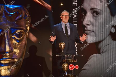 Greg Davies presents the Female in a Comedy Performance award