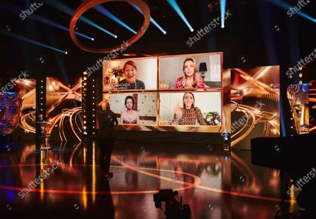 Stock Image of Glenda Jackson, Jodie Comer, Samantha Morton & Surrane Jones, Leading Actress Nominees 'Zoom' in