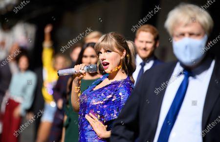 A wax figure of Taylor Swift
