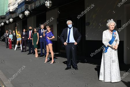 (L-R) Dwayne Johnson, Victoria and David Beckham, Beyoncé,  Eddie Redmayne, Donald Trump, Meghan Duchess of Sussex and Prince Harry, Taylor Swift, Boris Johnson, The Queen