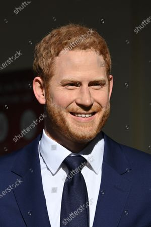 Prince Harry at Madame Tussauds re-opening in London