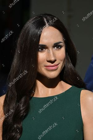 Meghan Duchess of Sussex at Madame Tussauds re-opening in London