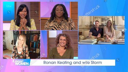 Ronan Keating, Storm Keating, Nadia Sawalha, Ranvir Singh, Judi Love, Carol McGiffin