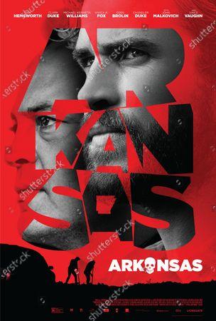Arkansas (2020) Poster Art. Vince Vaughn as Frog and Liam Hemsworth as Kyle