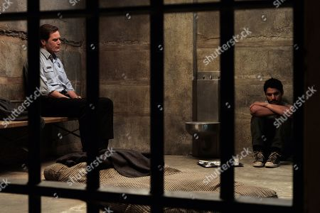 Stock Image of Michael Shannon as Chief Moore and Bobby Soto as Valentin