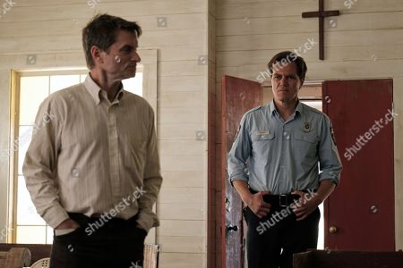 Stock Photo of Shea Whigham as The Man and Michael Shannon as Chief Moore
