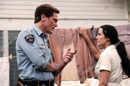 Michael Shannon as Chief Moore and Catalina Sandino Moreno as Celia