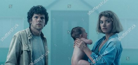 Jesse Eisenberg as Tom, Come Thiry as Baby and Imogen Poots as Gemma