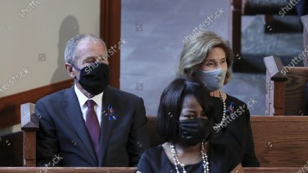 Former US President George W. Bush (L) and former First Lady Laura Bush (R) diuring the Celebration of Life Service for civil rights leader and Democratic Representative from Georgia John Lewis at Ebenezer Baptist Church in Atlanta, Georgia, USA, 30 July 2020. Lewis died at age 80 on 17 July 2020 after being diagnosed with pancreatic cancer in December 2019. John Lewis was the youngest leader in the March on Washington in 1963.