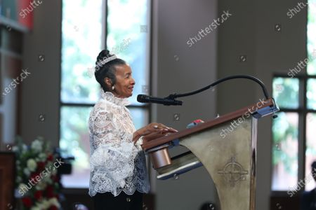 Xernona Clayton, the god mother of John Lewis' son John-Miles Lewis diuring the Celebration of Life Service for civil rights leader and Democratic Representative from Georgia John Lewis at Ebenezer Baptist Church in Atlanta, Georgia, USA, 30 July 2020. Lewis died at age 80 on 17 July 2020 after being diagnosed with pancreatic cancer in December 2019. John Lewis was the youngest leader in the March on Washington in 1963.