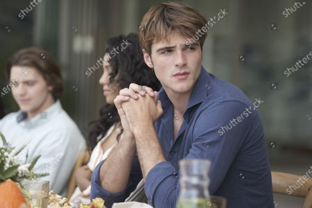 Stock Image of Joel Courtney as Lee Flynn, Maisie Richardson-Sellers as Chloe Winthrop and Jacob Elordi as Noah Flynn