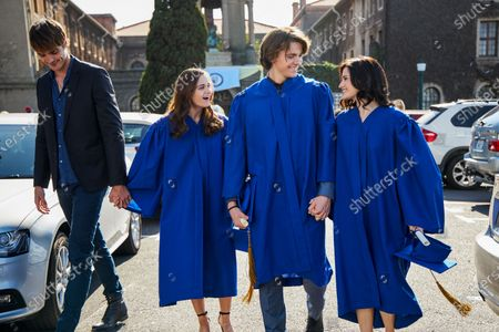Jacob Elordi as Noah Flynn, Joey King as Elle Evans, Joel Courtney as Lee Flynn and Meganne Young as Rachel