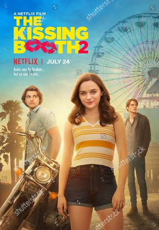 The Kissing Booth 2 (2020) Poster Art. Joel Courtney as Lee Flynn, Joey King as Elle Evans and Jacob Elordi as Noah Flynn