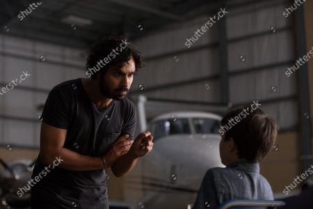 Kunal Nayyar as Mr. Mills and Gabriel Bateman as Oliver
