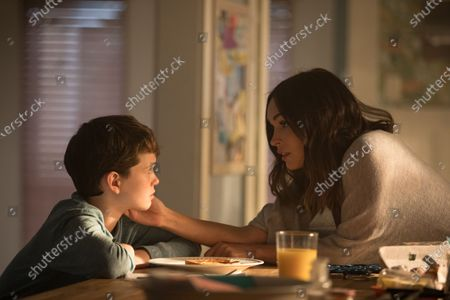 Gabriel Bateman as Oliver and Megan Fox as Ellen