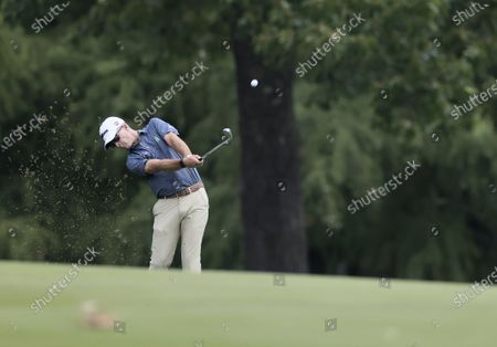 Kevin Streelman of the US hits on the first hole during the first round of the World Golf Championships-FedEx St. Jude Invitational golf tournament at TPC Southwind in Memphis, Tennessee, USA, 30 July 2020. Competition runs from 30 July through 02 August without fans in attendance.